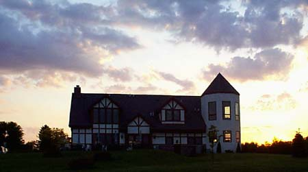 Clubhouse at sunset