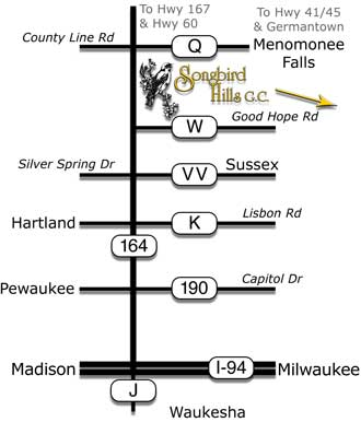 Simplified Map of Songbird Hills Golf Club